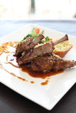 Bistecca dell'agnello Fotografie Stock