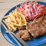 Bistecca della carne di maiale con pepe nero Fotografie Stock