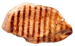 Bistecca della carne isolata su un fondo bianco Fotografia Stock