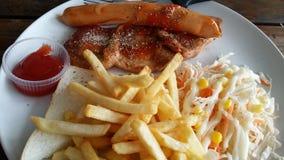 Bistecca della salsiccia Fotografia Stock