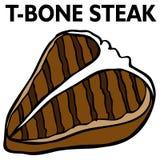 Bistecca di bistecca con l'osso Fotografie Stock