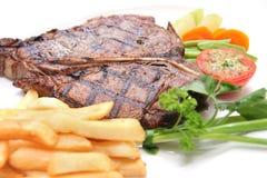 Bistecca di bistecca con l'osso Immagini Stock
