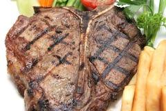 Bistecca di bistecca con l'osso Fotografia Stock