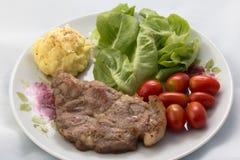 Bistecca di braciola di maiale Immagini Stock Libere da Diritti