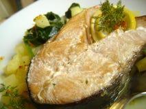 Bistecca di color salmone Fotografie Stock Libere da Diritti