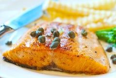 Bistecca di color salmone 2 Fotografia Stock Libera da Diritti