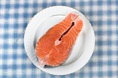 Bistecca di color salmone immagini stock