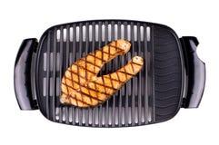 Bistecca di color salmone cucinata sulla griglia Immagini Stock Libere da Diritti