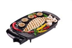 Bistecca di color salmone cucinata sulla griglia Immagini Stock