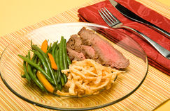 Bistecca di fianco Immagini Stock