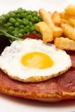 Bistecca di Gammon con un uovo fritto fotografia stock