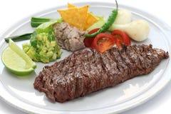 Bistecca di gonna arrostita, cucina messicana Fotografia Stock