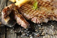 Bistecca di lombata cotta Fotografie Stock