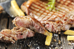 Bistecca di lombata cotta Fotografia Stock