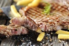 Bistecca di lombata cotta Fotografia Stock Libera da Diritti