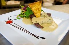 Bistecca di manzo Fotografia Stock
