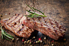 Bistecca di manzo arrostita Fotografia Stock