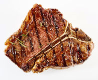 Bistecca di manzo arrostita spessa succosa della bistecca con l'osso Fotografia Stock Libera da Diritti