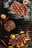 Bistecca di manzo di Chivas, bistecca di pepe e bistecca affumicata di Ribeye Immagini Stock