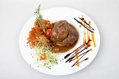 Bistecca di manzo con la salsa di pepe Fotografia Stock Libera da Diritti