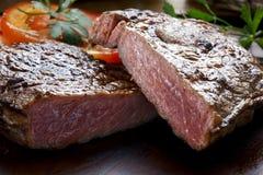 Bistecca di manzo cotta Immagine Stock