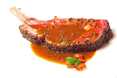 Bistecca di manzo cotta di Wagyu Immagini Stock Libere da Diritti