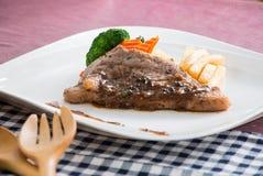 Bistecca di manzo del barbecue Immagine Stock