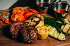 Bistecca di manzo deliziosa Fotografie Stock