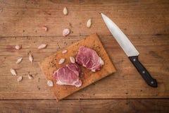 Bistecca di manzo grezza Immagine Stock Libera da Diritti