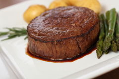 Bistecca di manzo sugosa Immagine Stock