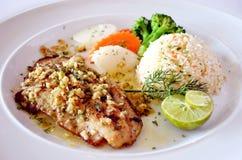 Bistecca di pesci Fotografie Stock