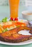 Bistecca di pesci fotografia stock
