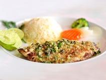 Bistecca di pesci Fotografia Stock Libera da Diritti
