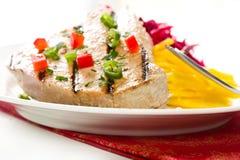 Bistecca di sgombro cotta Fotografia Stock Libera da Diritti