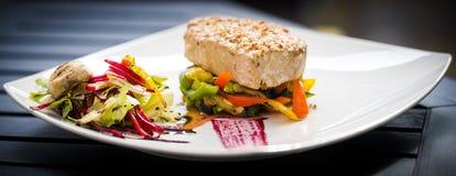 Bistecca di tonno Fotografie Stock Libere da Diritti