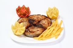 Bistecca di tonno arrostita Fotografie Stock