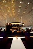 Bistecca e birra capitali dell'aeroporto internazionale di Pechino Fotografia Stock Libera da Diritti