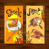 Bistecca e carne Fotografia Stock Libera da Diritti
