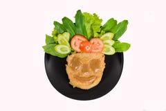 Bistecca e verdura con il fronte dell'alimento immagini stock