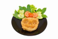 Bistecca e verdura con il fronte dell'alimento fotografia stock libera da diritti