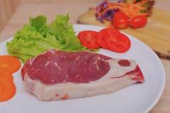 Bistecca grezza Fotografia Stock