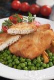 Bistecca impanata del pollo Fotografia Stock
