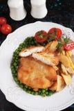 Bistecca impanata del pollo Immagine Stock