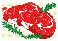 Bistecca nello stile di Pop art illustrazione vettoriale