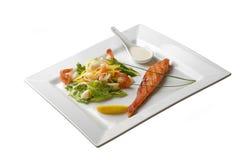 Bistecca specializzata dei pesci fritti rossi Fotografia Stock Libera da Diritti