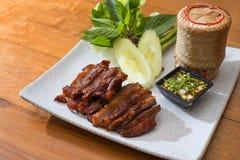 Bistecca tailandese della carne di maiale di stile Immagine Stock Libera da Diritti