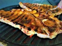 Bistecche arrostite della carne di maiale con la glassa dell'albicocca Immagini Stock Libere da Diritti