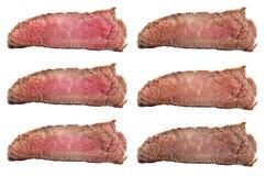 Bistecche crude che friggono i gradi: raro raro, blu, medio, medio, medi Fotografia Stock Libera da Diritti