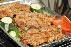 Bistecche del barbecue Immagini Stock Libere da Diritti