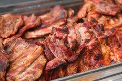 Bistecche del porco Immagini Stock Libere da Diritti